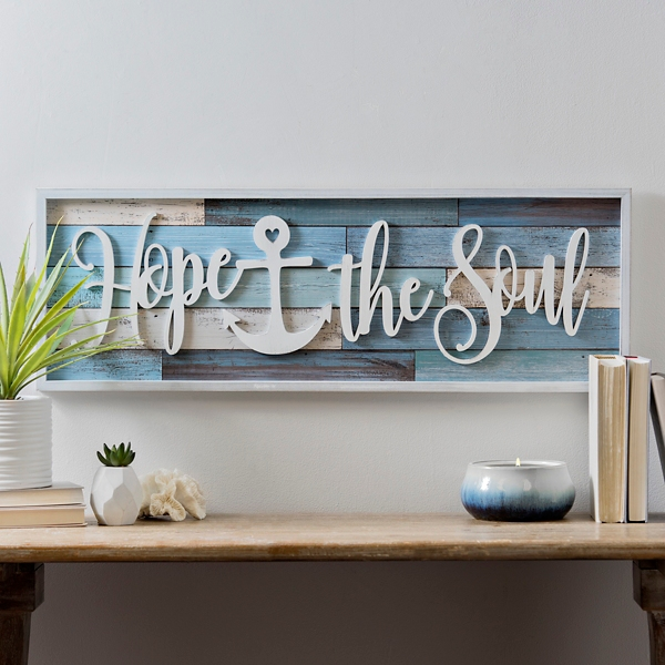 Superieur Hope Anchors The Soul Framed Wall Plaque