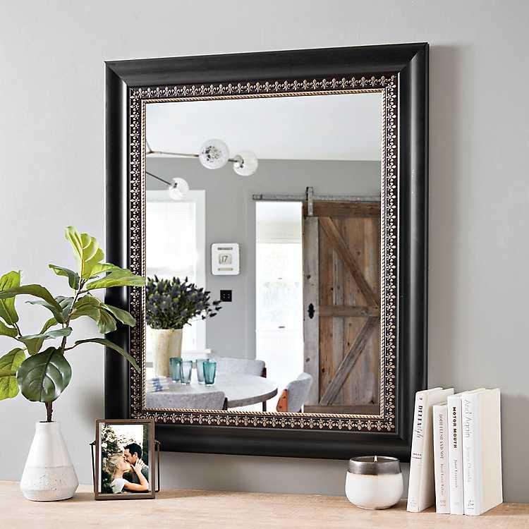 Gold Fleur De Lis Framed Mirror 29 5x35 5 In