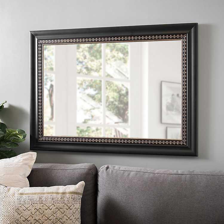 Gold Fleur De Lis Framed Mirror 31 5x43 5 In
