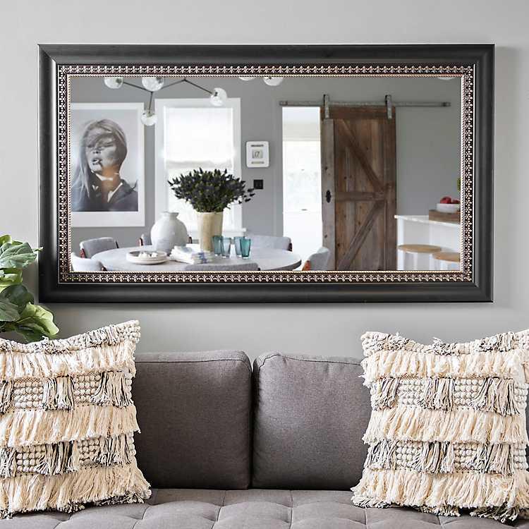 Gold Fleur De Lis Framed Mirror 31 5x55 5 In