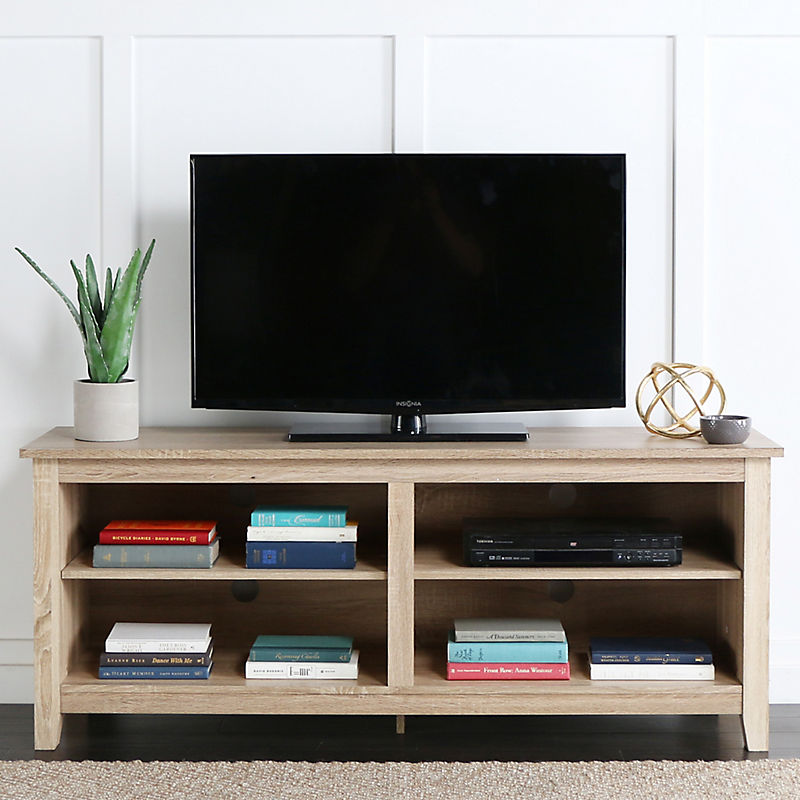 Natural Wood Media Console