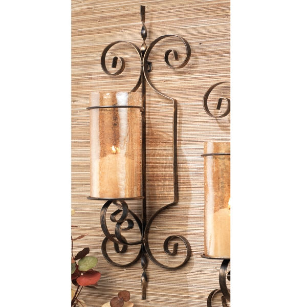 Amber Blair Metal Wall Sconces, Set Of 2