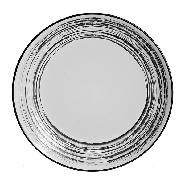 Black Scratch Dinner Plate  sc 1 st  Kirklands : white and black dinnerware - pezcame.com