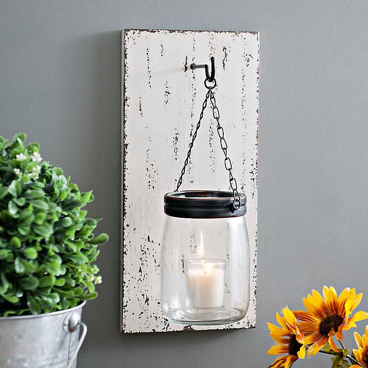 Product Details Wood Slat And Mason Jar Sconce