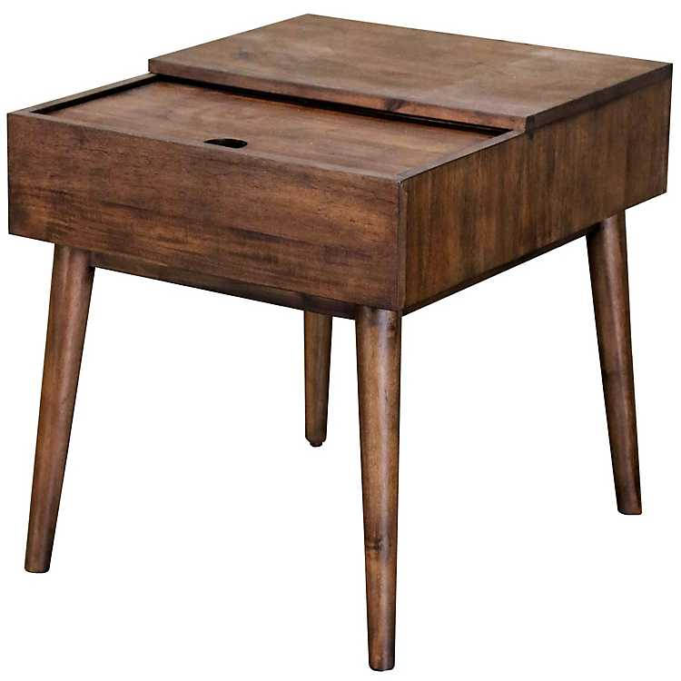 Sliding Top Accent Table With Charging Station Kirklands