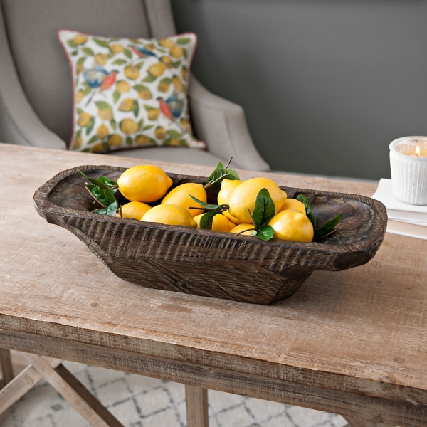 Galvanized Bowl with Lemons