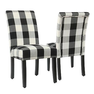 Black Buffalo Check Dining Chairs Set Of 2 Kirklands