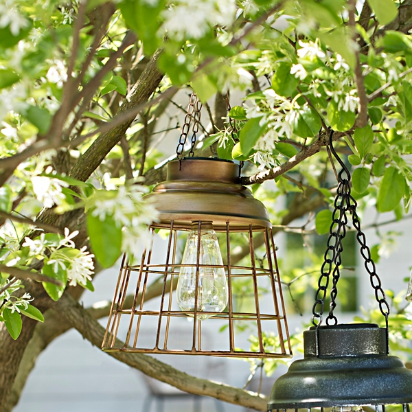 Copper Caged Solar Light