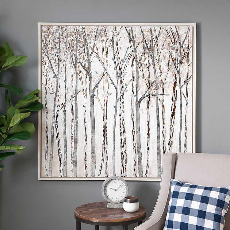 winter woodland home decor the collection.htm winter walk framed canvas art print kirklands  winter walk framed canvas art print