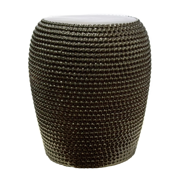 Astonishing Gold Beaded Ceramic Garden Stool Kirklands Pabps2019 Chair Design Images Pabps2019Com