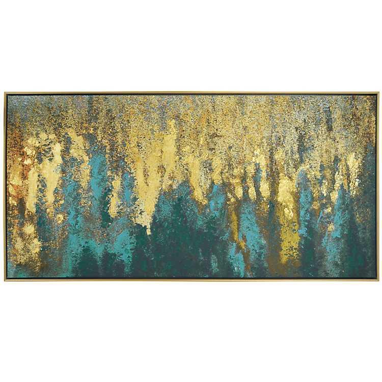 b1e04cc9a2b4 Product Details. Liquid Gold Framed Canvas Art Print