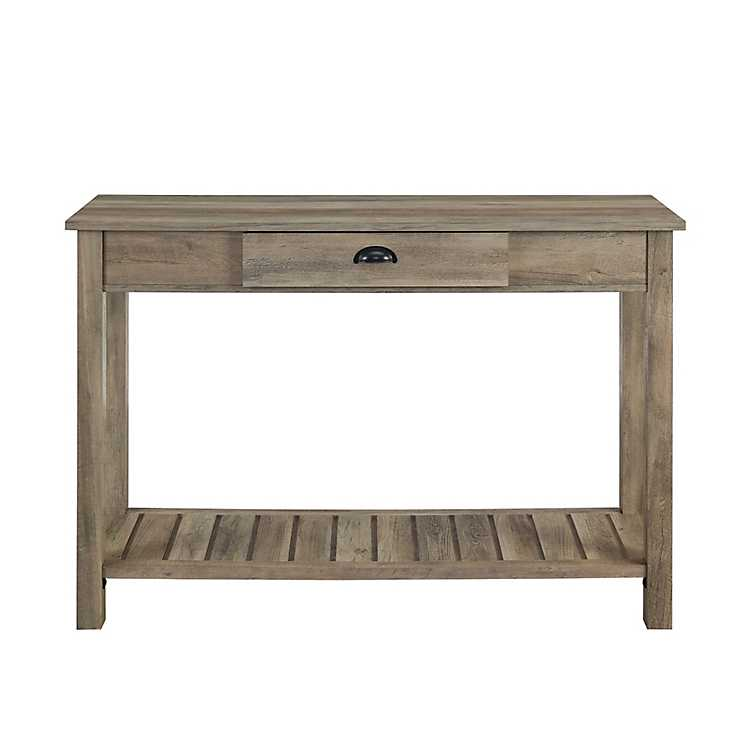 Outstanding Country Style Graywashed Console Table Gmtry Best Dining Table And Chair Ideas Images Gmtryco