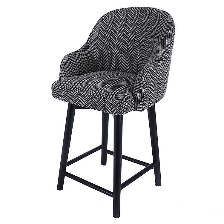 Awe Inspiring Swivel Herringbone With Black Legs Counter Stool Lamtechconsult Wood Chair Design Ideas Lamtechconsultcom