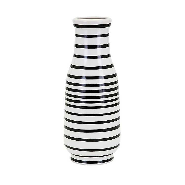 Black And White Stripe Parisa Vase Kirklands