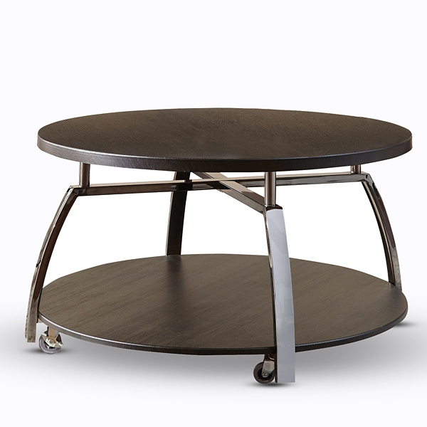 Colin Faux Wood and Metal Coffee Table Kirklands