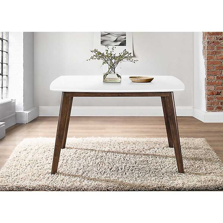 White Top Mid Century Modern Dining Table