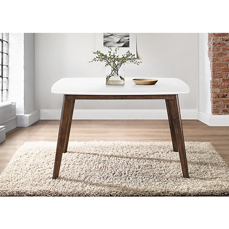 White Top Mid-Century Modern Dining Table