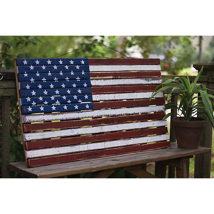 Product Details Wooden American Flag