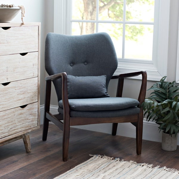 Charcoal Mid-Century Arm Chair
