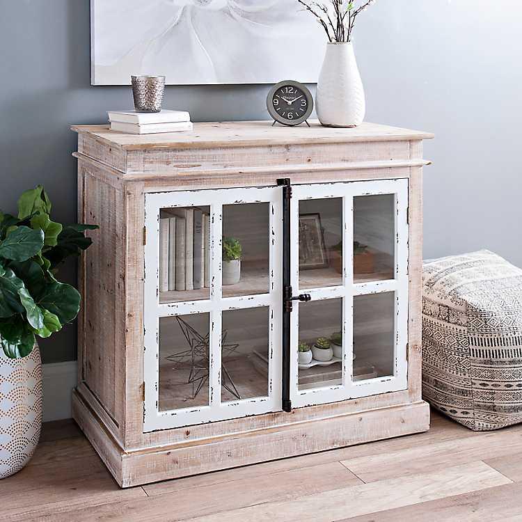 Miller Windowpane Cabinet With Antique Hardware Kirklands