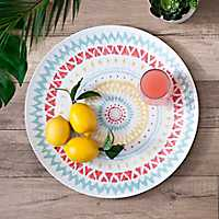 Ikat Medallion Round Platter