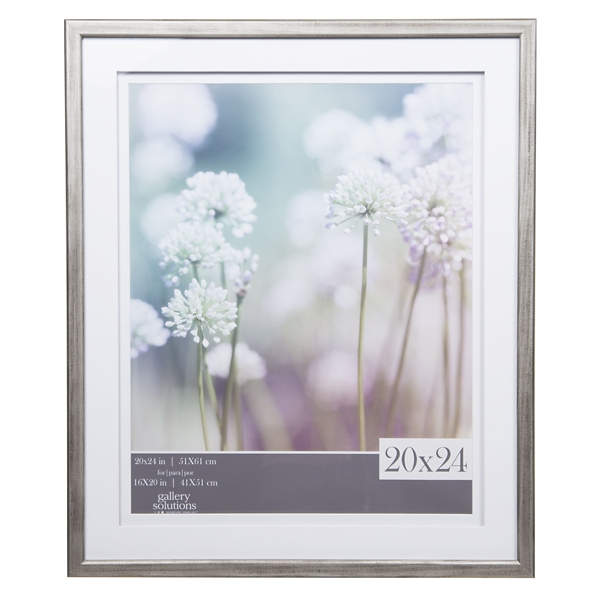 Gray Picture Frame with Double Mat, 20x24 | Kirklands