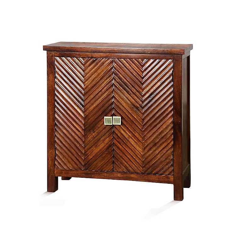 Herringbone 2 Door Wooden Cabinet Kirklands