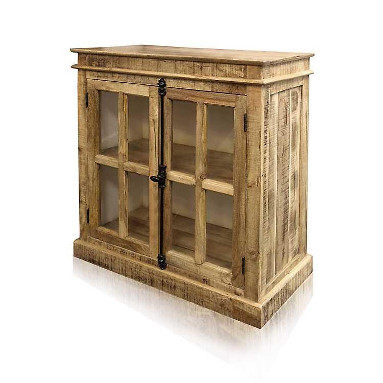 Mango Finish 2 Door Wooden Cabinet Kirklands
