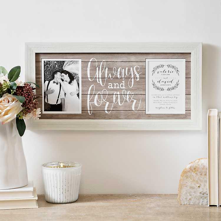 Always Forever Wedding Invitation Collage Frame | Kirklands