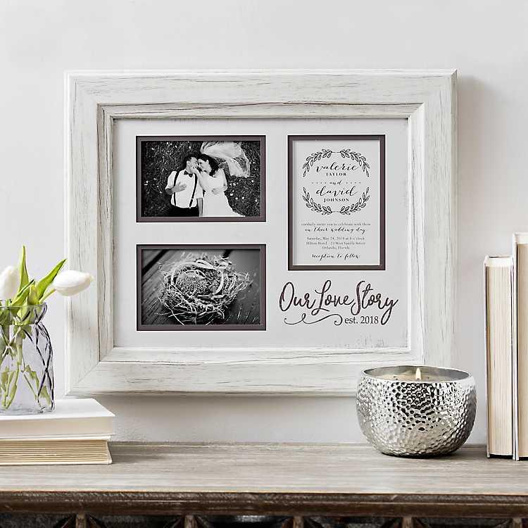 Our Love Story Wedding Invitation Collage Frame | Kirklands