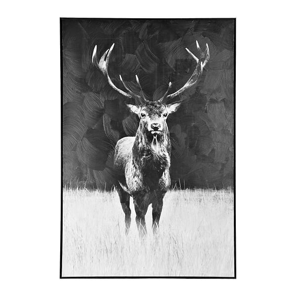 Black elk framed art print