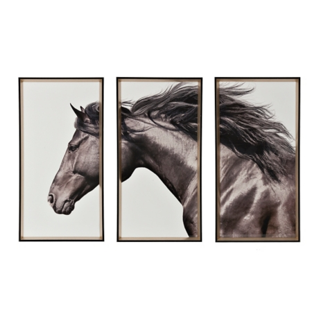 Free Again Horse Triptych Framed Art Prints | Kirklands