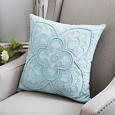 spaces ikat outdoor for pillow d accent indigo summer pillows home living departments your cor decor teal
