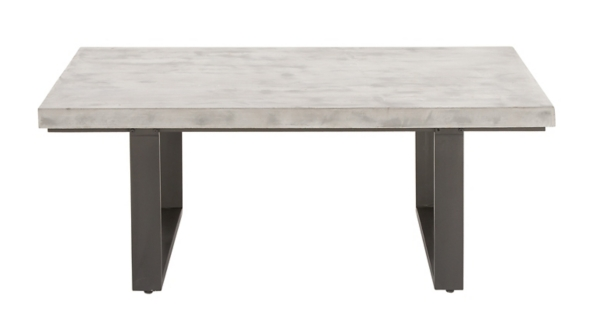 Faux Concrete and Metal Coffee Table Kirklands