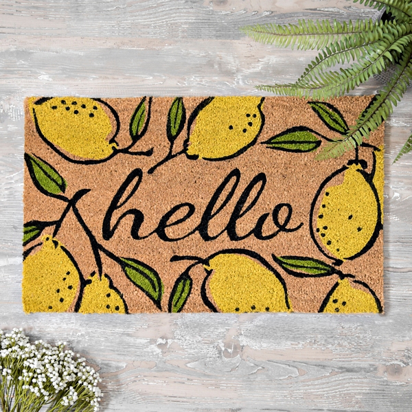 Hello Lemon Doormat