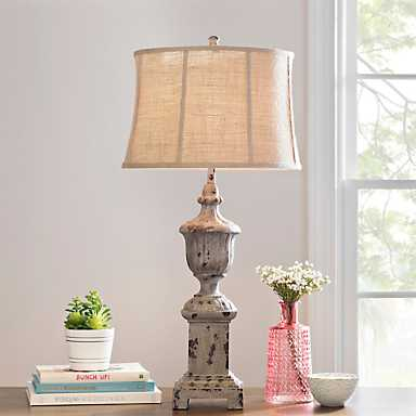 Hannah French Resin Urn Table Lamp