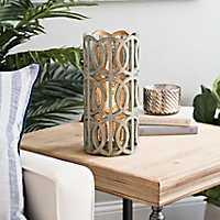 Harper Green Uplight with Mercury Glass Interior