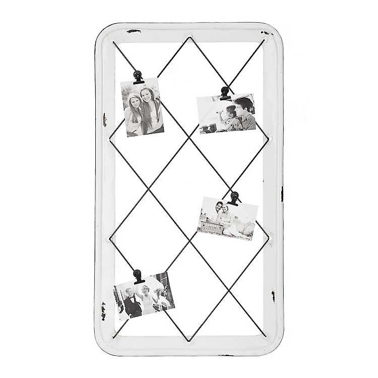 Distressed White Wire Collage Frame with Clips | Kirklands