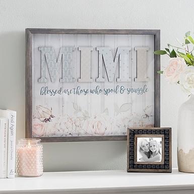 Framed Art For Living Room. Mimi Spoil and Snuggle Shadowbox Framed Art  Wall Kirklands