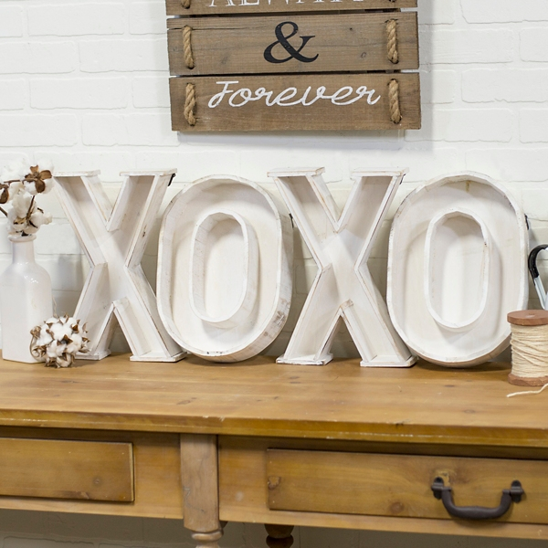 XOXO Wood Letter Plaques Set of 4 Kirklands