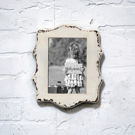 White Wood Scalloped Wall Picture Frame 5x7 Kirklands