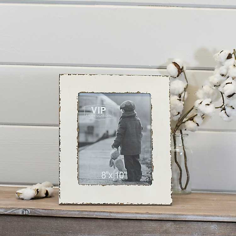 White Distressed Wood Wall Picture Frame, 8x10 | Kirklands