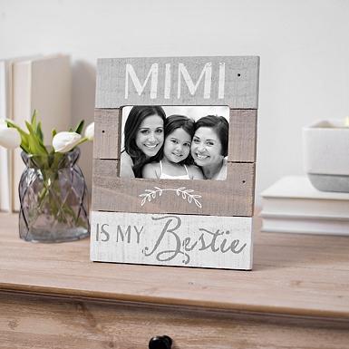 Mimi is My Bestie Plank Picture Frame, 4x6 | Kirklands
