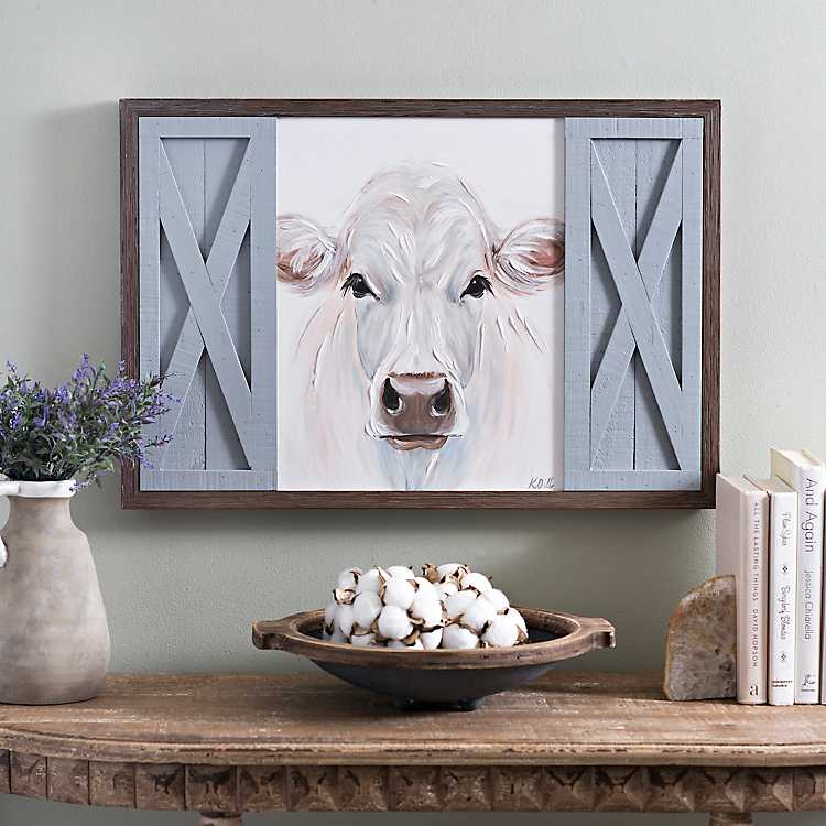 country home decor catalogs design idea and decors.htm white cow with barn doors framed art print kirklands  white cow with barn doors framed art