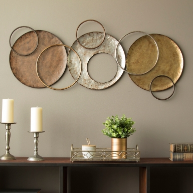 Metal Circle Wall Decor Awesome Round 20 D Art Industrial Sliced