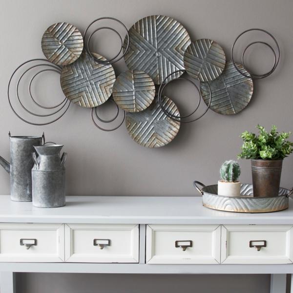 Galvanized Plates Metal Wall Plaque