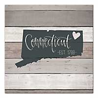 Connecticut Shiplap Canvas Art Print