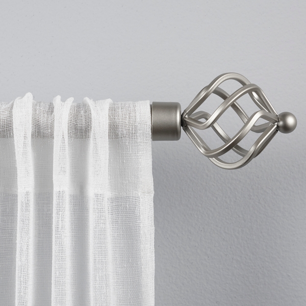 Matte Silver Tatum Curtain Rod, 72 In.