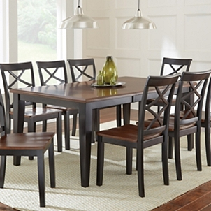 Quinn Two Toned Wood Dining Table