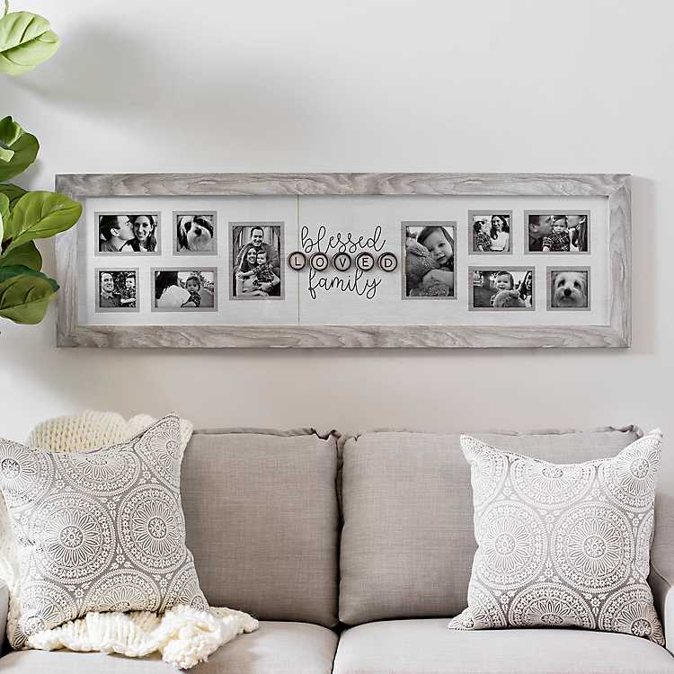 10-Opening Blessed Loved Family Collage Frame | Kirklands